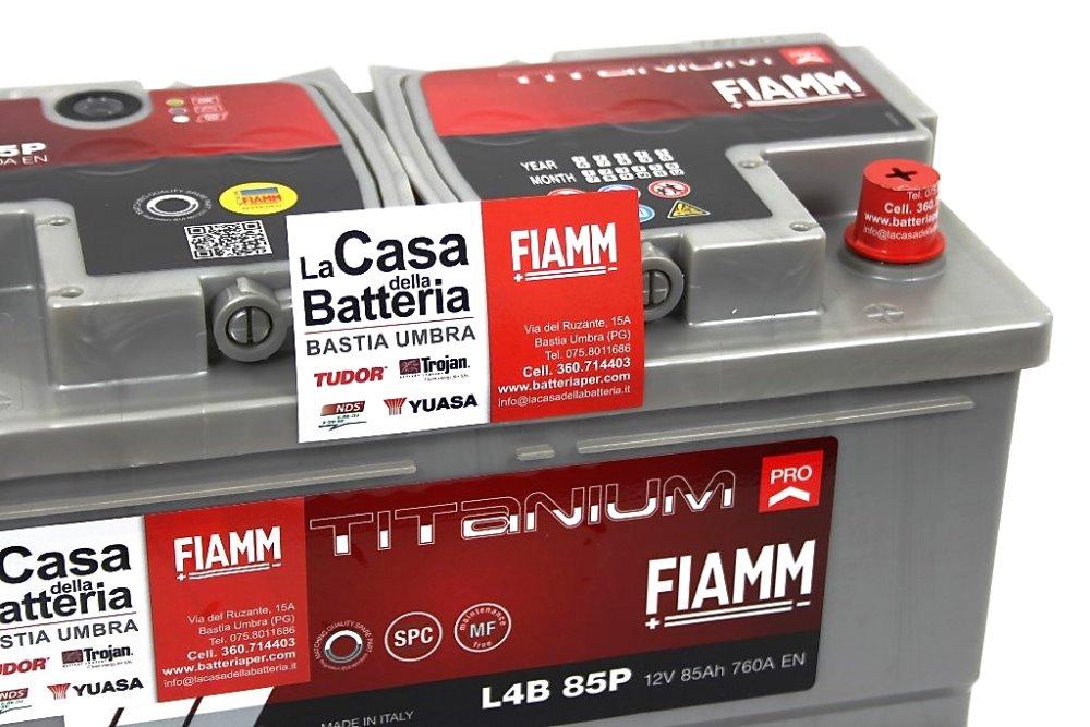 Batteria per camper ford avviamento fiamm 85ah 760a ribassata la casa della batteria camper - Batteria per casa ...