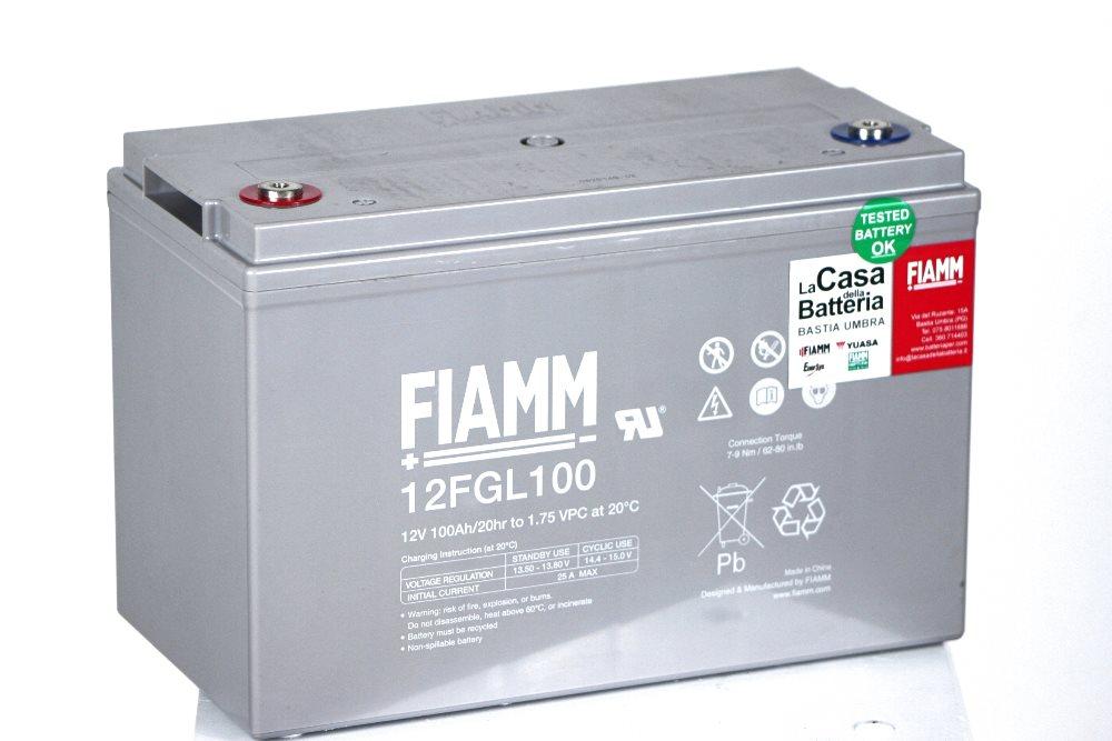 Batteria per cellula camper fiamm 12fgl100 12v 100ah la casa della batteria camper - Batteria per casa ...