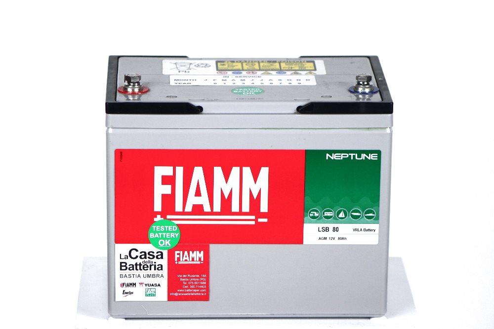 Batteria per cellula camper fiamm lsb80 12v 80ah la casa della batteria camper - Batteria per casa ...