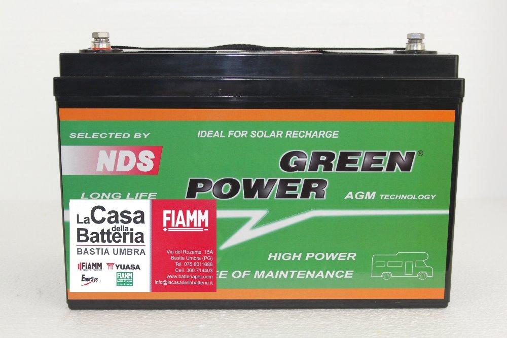 batteria per cellula camper green power 100ah agm vrla la