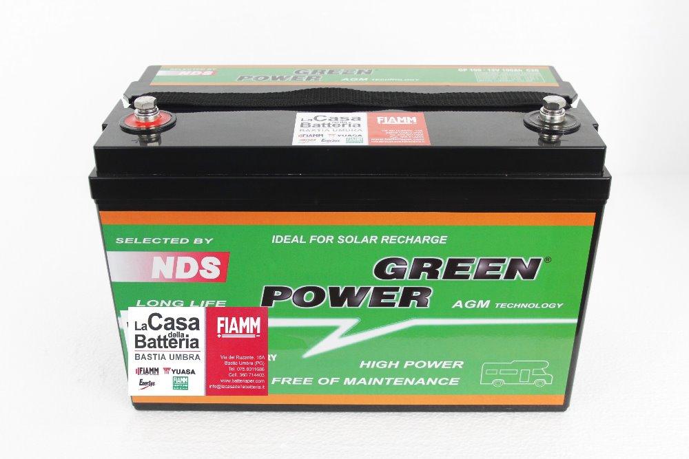 Batteria per cellula camper green power 100ah agm vrla la casa della batteria camper - Batteria per casa ...