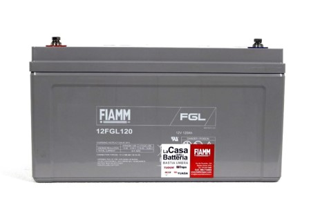 Batteria per cellula camper fiamm 12fgl120 12v 120ah la casa della batteria camper - Batteria per casa ...